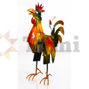 Tin - Chicken standing - sprayed 34cm