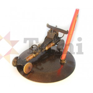 Mexico Recycled Tin Racing Car Pen Holder