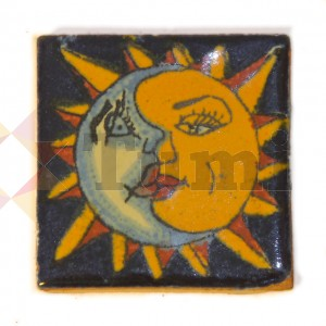 Mexico Hand Painted Tiles 5 cm - 01