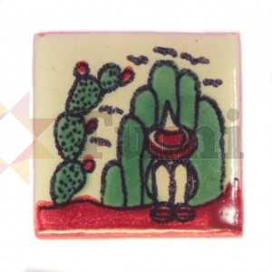 Mexico Hand Painted Tiles 5 cm - 06