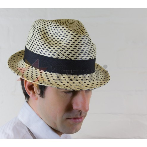 Panama hat - Japanese model - striped