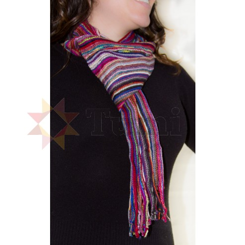 Striped long scarf