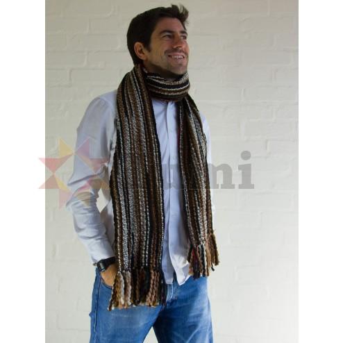 Thick woollen scarf - Brown
