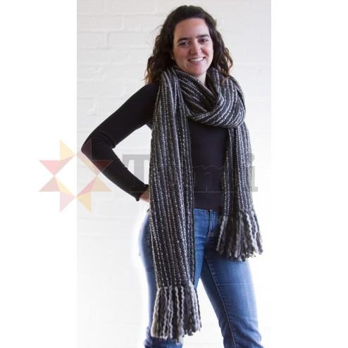 Thick woollen scarf - Grey