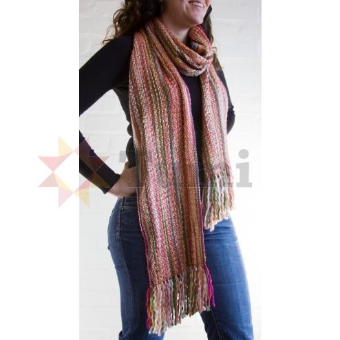Thick woollen scarf - Pink