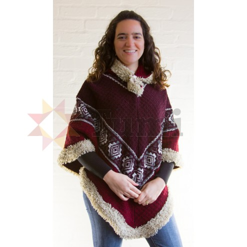 Wool Thick Poncho