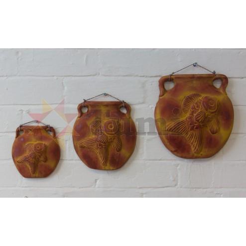 Mexico Ceramic Plaques - set of 3 Fish