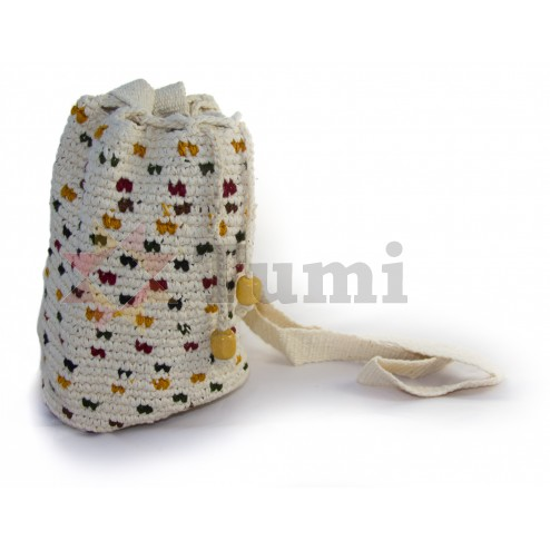 Guatemala round crochet bag - Nebaj (L)
