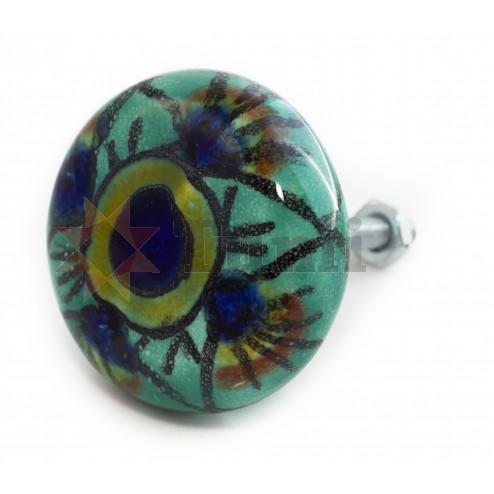 Doorknob - green flower