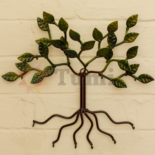 Tin - tree of keys - 35cm - Green