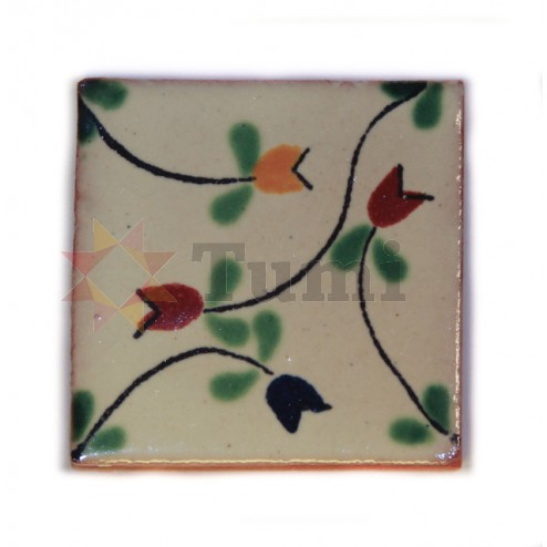 Mexico Hand Painted Tiles 5 cm - 17