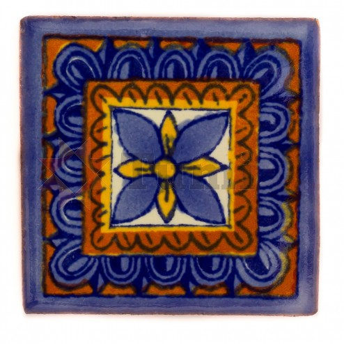 Mexico Hand Painted Tiles 5 cm - 22