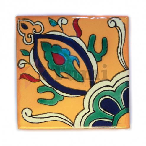 Mexico Hand Painted Tiles 10.5cm - 15