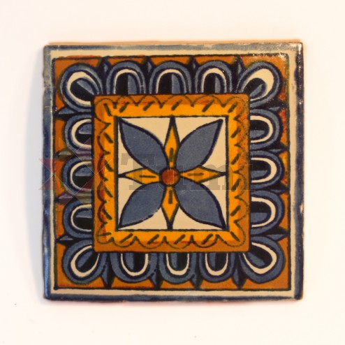 Mexico Hand Painted Tiles 10.5cm - 19