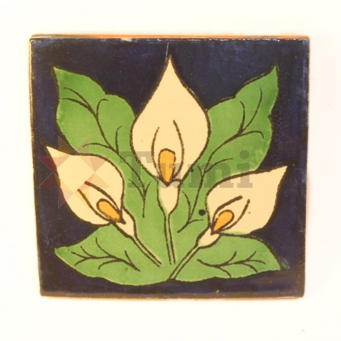 Mexico Hand Painted Tiles 10.5cm - 21