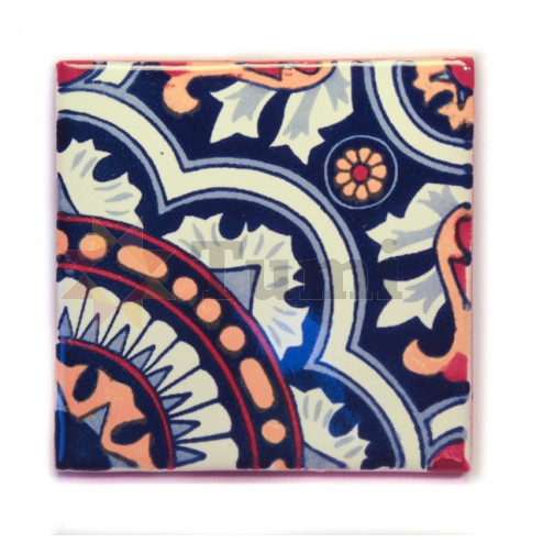 Mexico Hand Painted Tiles 10.5cm - 22