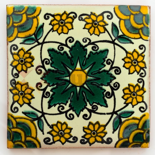 Mexico Hand Painted Tiles 10.5cm - 23