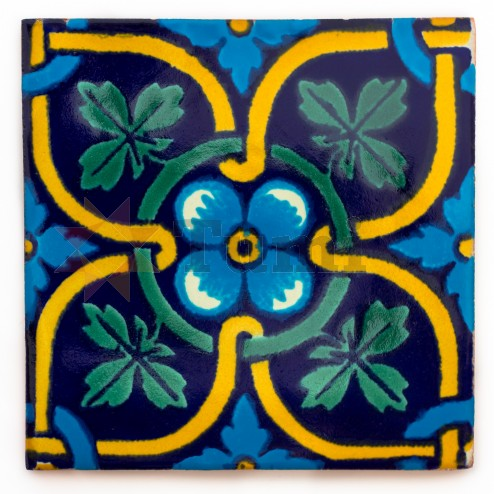 Mexico Hand Painted Tiles 10.5cm - 25