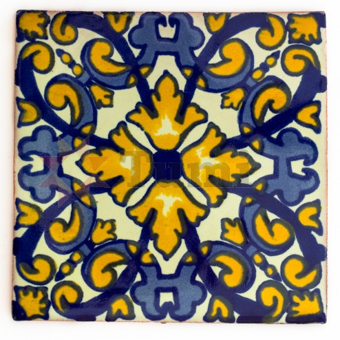 Mexico Hand Painted Tiles 10.5cm - 28
