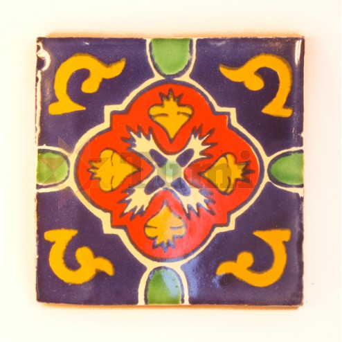 Mexico Hand Painted Tiles 10.5cm - 04