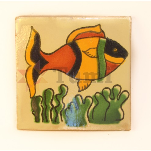 Mexico Hand Painted Tiles 10.5cm - 06