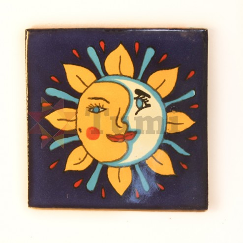 Mexico Hand Painted Tiles 10.5cm - 08