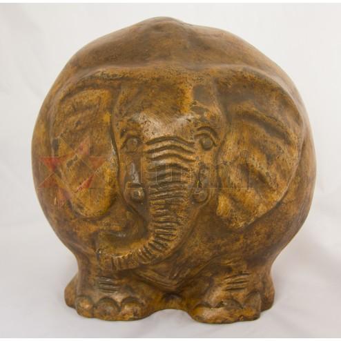 Mexico Round Ceramic Elephant