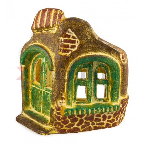 Mexico Ceramic Wall Mount Light Cover-House