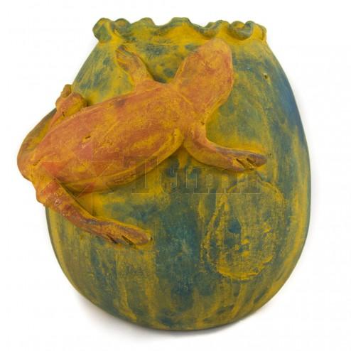 Mexico Rustic Pot with Lizard/Geko