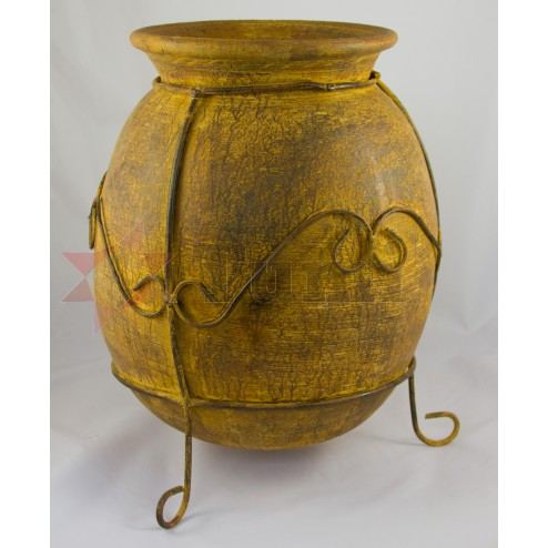 Mexico Rustic Pot & Stand - 40x32cm