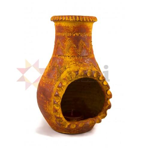 Mexico Chiminea & Candle - 22cm
