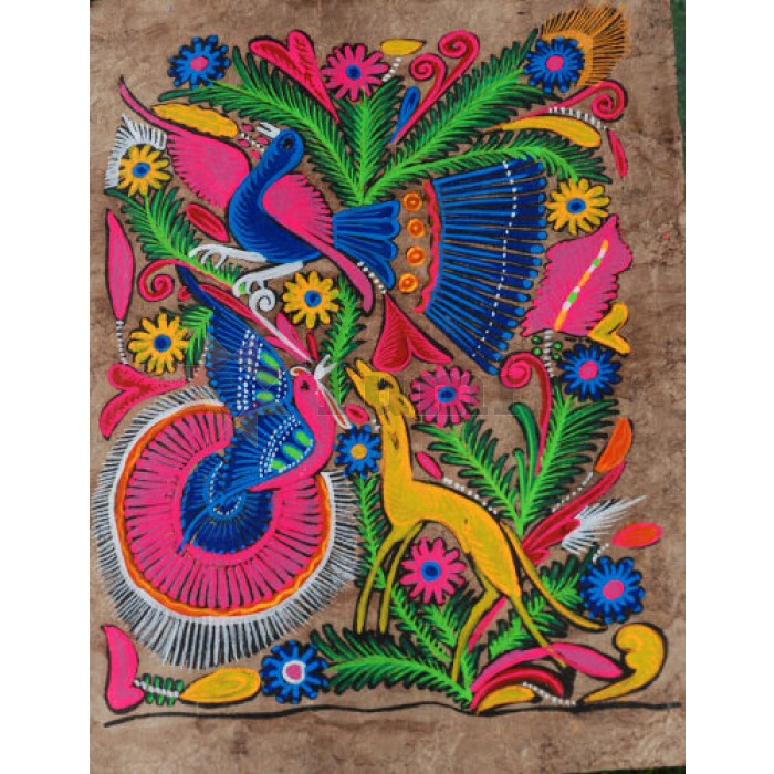 Mexico Amate Bark Painting S 20x30cm