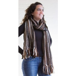 Thick woollen scarf - Brown