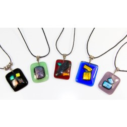 Glass pendant - Rectangular