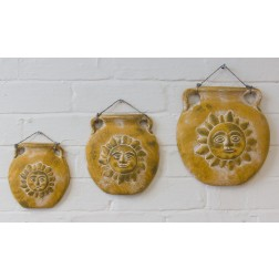 Mexico Ceramic Plaques - set of 3 Suns