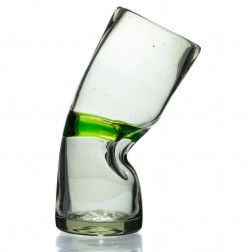 Glass with kink - Blended Green