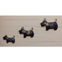 Tin - Scottie dog - set of 3