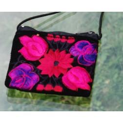 Guatemala Purse - dyed velvet - 8x12 cm