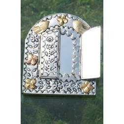 Mexico Tin Mirror with Door - 18x15cm