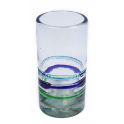 Hi-ball Tall Glass - Recycled - 3 Colour Ring - 17cm