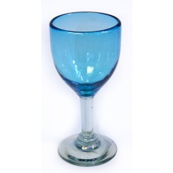 Wine Glass - Recycled - Turquoise - 17cm