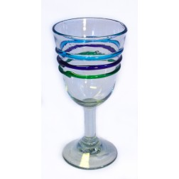Campana Wine Glass - Recycled - 3 colour ring - 17cm