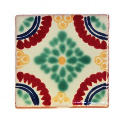 Mexico Hand Painted Tiles 5 cm - 12
