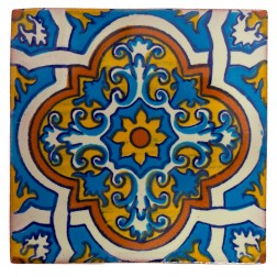 Mexico Hand Painted Tiles 5 cm - 21