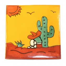 Mexico Hand Painted Tiles 10.5cm - 01