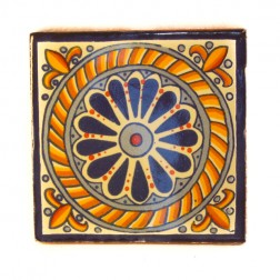 Mexico Hand Painted Tiles 10.5cm - 14