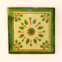 Mexico Hand Painted Tiles 10.5cm - 16