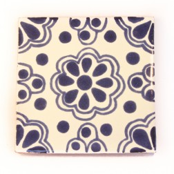 Mexico Hand Painted Tiles 10.5cm - 02