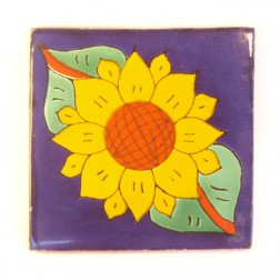 Mexico Hand Painted Tiles 10.5cm - 03