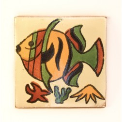 Mexico Hand Painted Tiles 10.5cm - 05